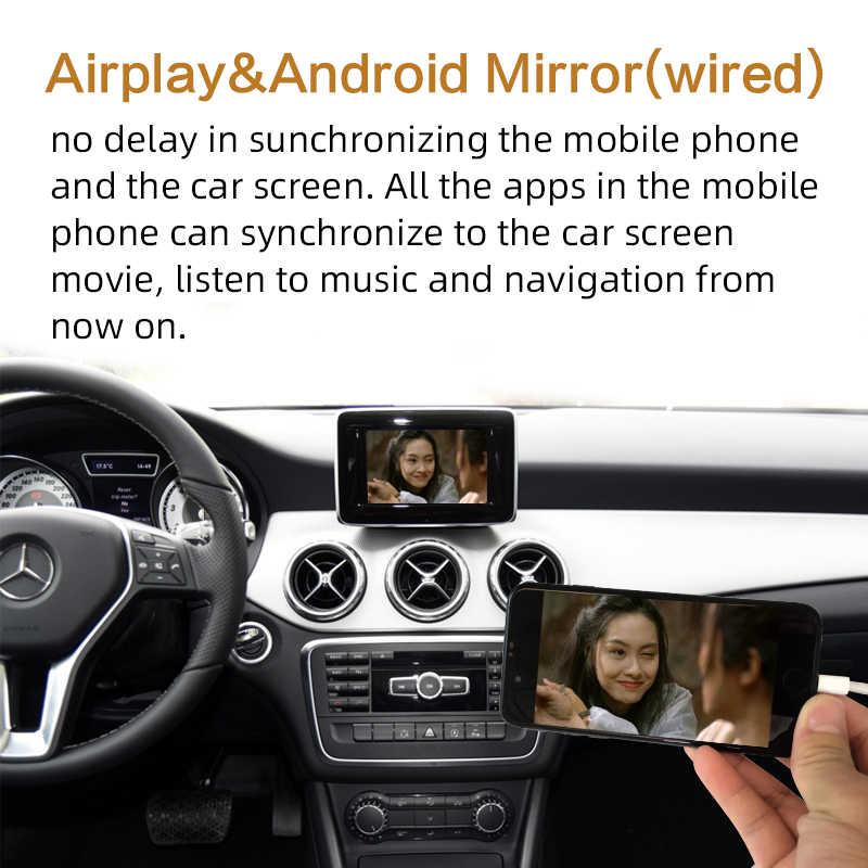 Sinairyu ワイヤレス Wifi アップル Carplay メルセデス GLA クラス X156 2013-2015 NTG4.5 車再生カーモニターサポートリバースカメラプラグと再生