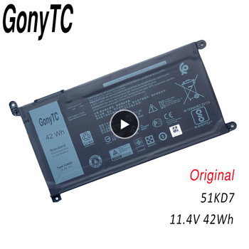 GONYTC 51KD7 Original New Replacement Laptop battery for Dell Chromebook 11 3180 3189 51KD7 11.4V 42Wh