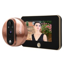 4.3 Inch Monitor Video Peephole WiFi Doorbell Camera PIR Motion Detection Wireless Intercom APP Control(China)