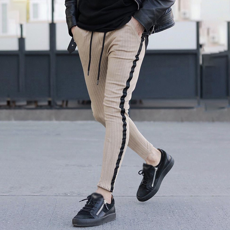 Men Pants Trouser Sports Summer Long Joggers Fashion Fitness Slim Fit Casual Workout Skinny