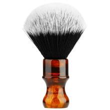 Amber Shaving Brush Silvertip Synthetic Badger Hair with Resin Handle Anbbas for Men Professional Wet Shaving (Knot 24mm) Amber