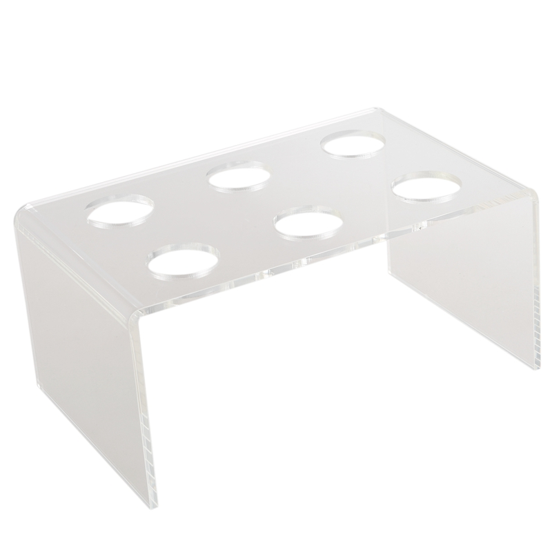 Hot XD-6 Holes Acrylic Stand Holder Ice Cream Crisp tube Cone Holder