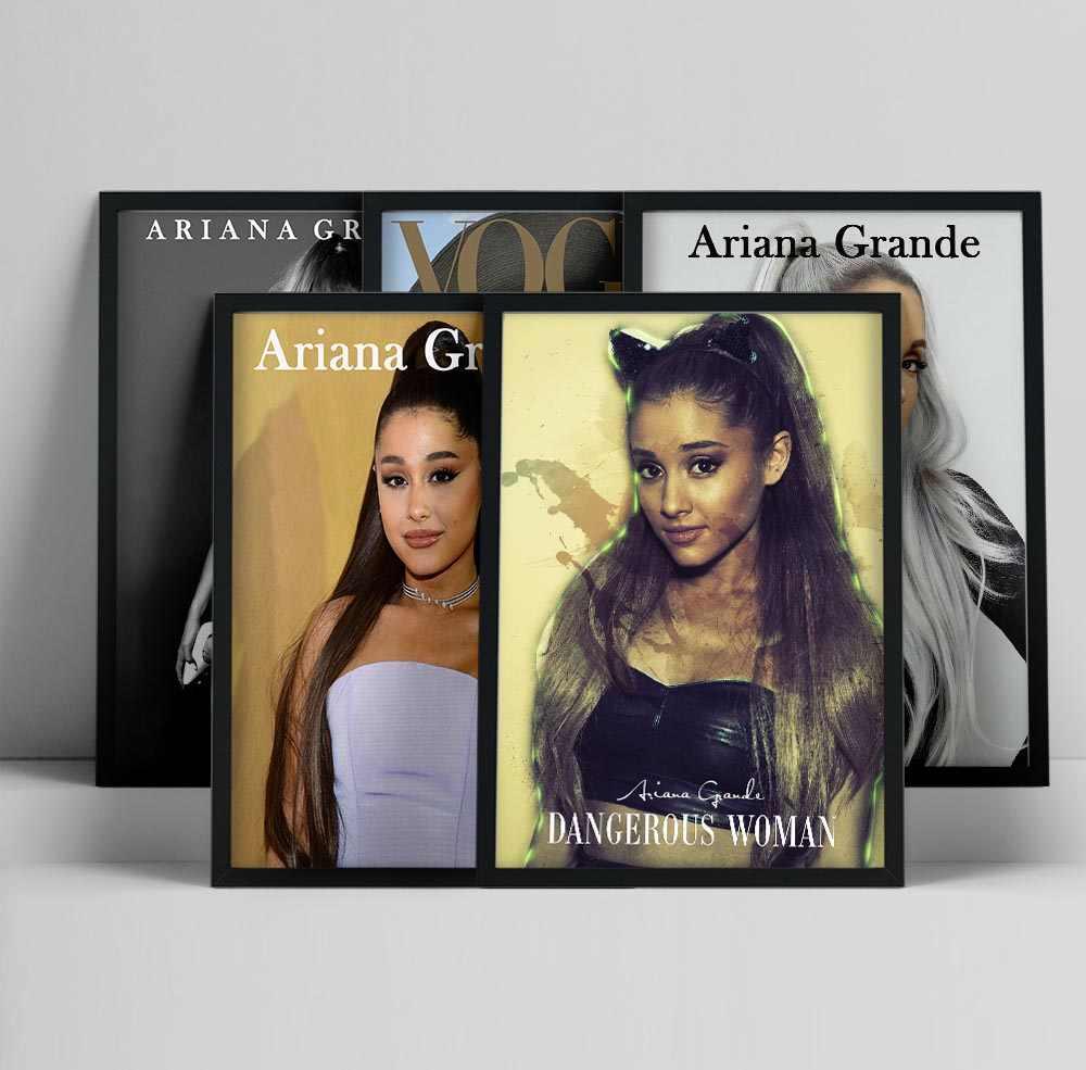H547 Ariana Grande Imagine Album Cover Pop Music Star Art Silk Poster