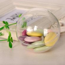 Bola transparente de decoração natalina, enfeite transparente de plástico aberto, decorações de bauble redondas, suprimentos de natal, 10 pçs/lote