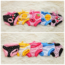 1PC Dog Physiological Pants Cute Strawberry Print Diaper Sanitary Dog Shorts Panties For Small Medium Dogs Diaper Dog Underwear