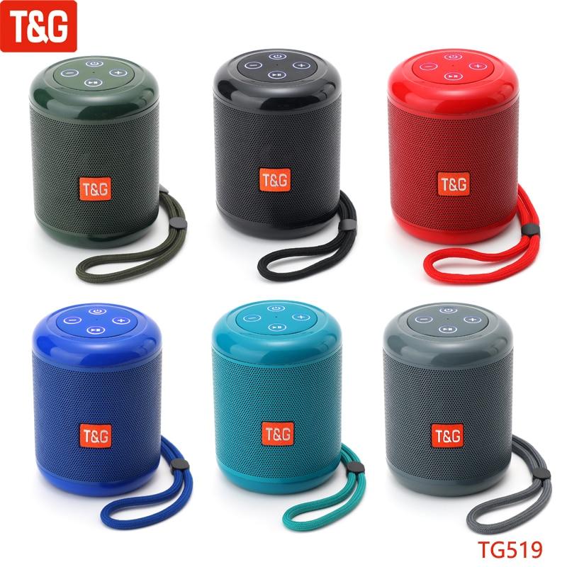 T&G TG519 Wireless Bluetooth Speaker Outdoor Waterproof Portable Stereo Loudspeaker Mini Small Music Player Handheld Speakers