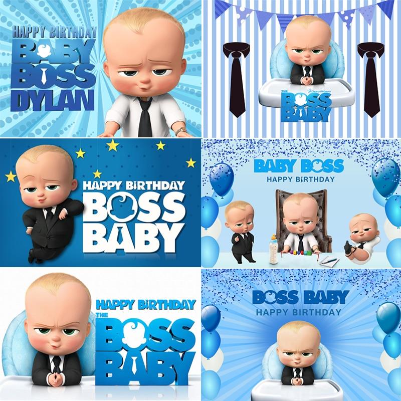 Inmemory little men chefe bebê tema fotografia fundos azul meninos festa de aniversário backdrops para estúdio foto vinil personalizado