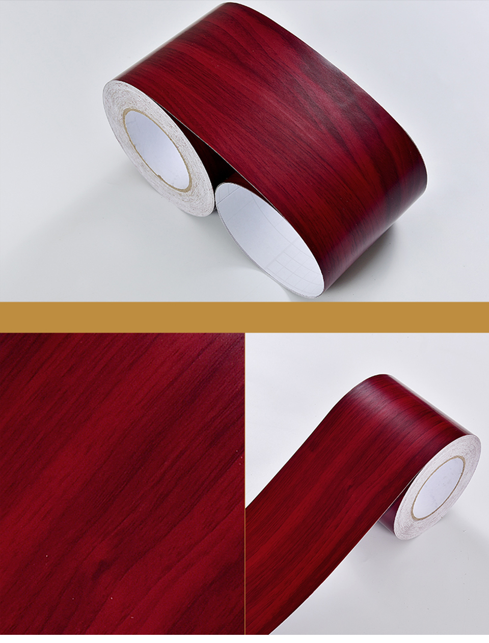 Wood Self Adhesive Window Decal Living Room Floor Border Skirting Contact Paper Waterproof Waist Line Wallpaper Home Improvement Hbe33c55ff36142efaf05748c9ea17d0dK