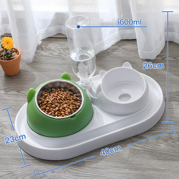 600ml Pet Dog Cat Automatic Feeder Bowl for Dogs Drinking Water Bottle Kitten Bowls Slow Food Feeding Container Supplies 15