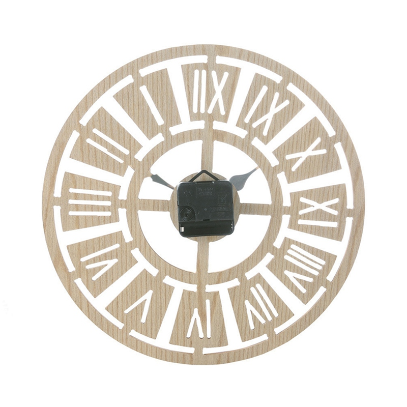 Household Retro Wooden Wall Clock Vintage Rustic Country Round Decorative Clock Retro Style Wall Clock For Festival Home Decor