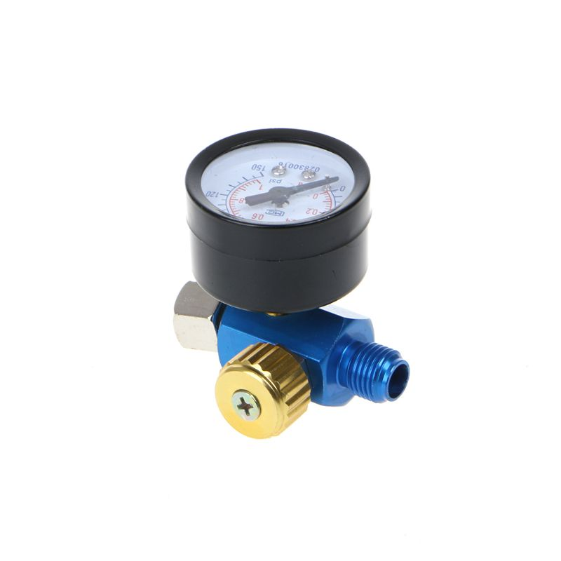 1/4'' BSP HVLP Spray Gun Air Regulator Tool Pressure Gauge Diaphragm Control