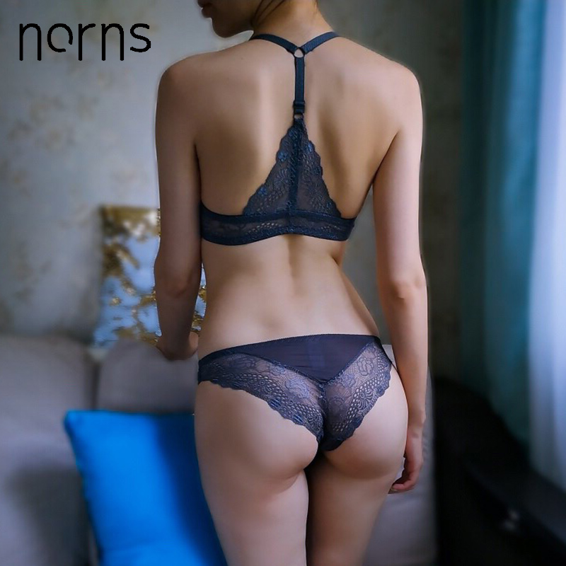 Norns women lace lingerie set plus size bra push up beautiful underwear Seamless female front closure bras sexy lingerie set