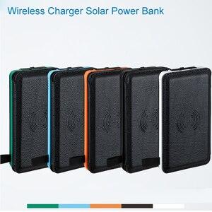Image 5 - Cargador de teléfono inalámbrico Qi, Banco de energía Solar a prueba de agua, batería externa de 8000mah, Cargador rápido para Xiaomi Mi