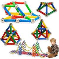 103pcs DIY Designer Educational Funny ToysMagnet Metal Balls Kids Magnetic Building Blocks Toys Construction Toy Accessories