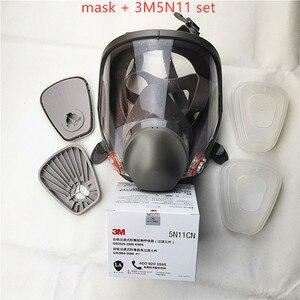 Image 2 - 6800 Gas Masker Set Volledige Gezicht Gezichtsmasker Respirator Voor Schilderen Spuiten Dezelfde 3M 6800