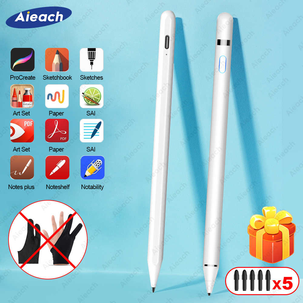 Voor Ipad Potlood Stylus Voor Ipad Pro 11 12.9 2020 10.2 2019 9.7 2018 Air 3 Mini 5 Palm Afwijzing smart Touch Pen Voor Apple Potlood