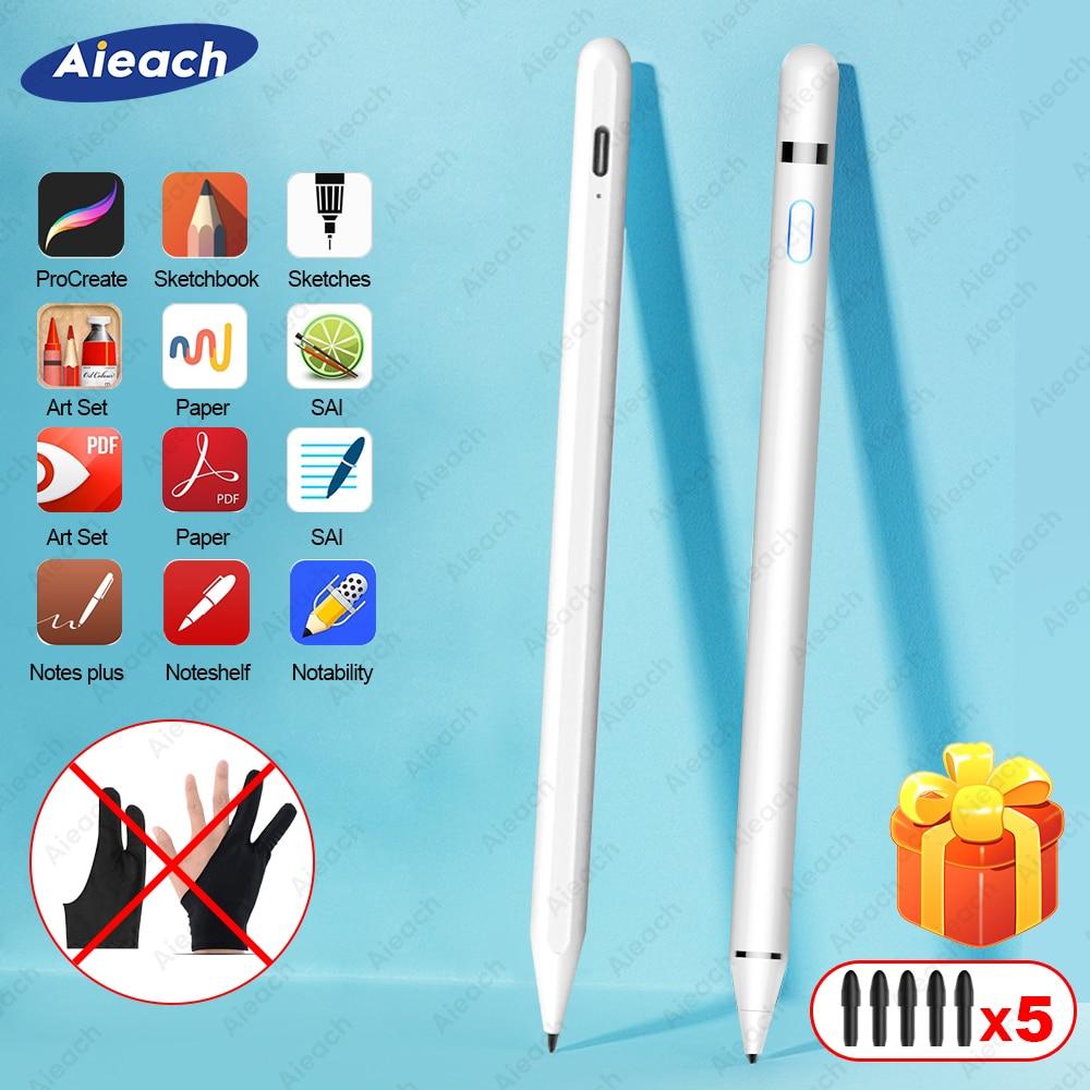 Für iPad Bleistift Stylus Für iPad Pro 11 12,9 10,2 2019 9,7 2018 Air 3 mini 5 Palm Ablehnung Zeichnung touch Stift Für Apple Bleistift
