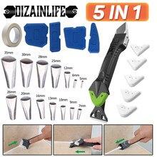 Ensemble de racleurs de coulis en Silicone 5 en 1, dissolvant de coulis multifonctionnel, Kit d'outils de calfeutrage avec spatule