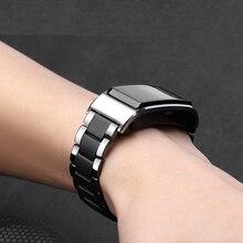 18мм Керамический ремешок для часов Для Huawei Talkband B5 / LG Watch Style / Withings Activite Сменная лента Fossil Q Tailor Аксессуары