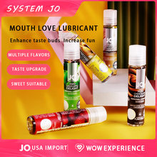 Fórmula à base de água do óleo da massagem do sexo do casal do lubrificante sexual do sabor do fruto do boquete de jo do sistema fácil limpar o óleo oral do sexo