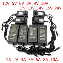 Netzteil Adapter AC Zu DC 12V 5V 6V 8V 9V 10V 12V 13V 14V 15V 24V Led-treiber 1A 2A 3A 5A 6A 8A 220V Zu 12V Transformator