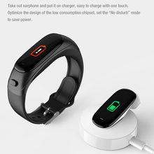 FLUXMOB V08 PRO Bluetooth Headset Smart Bracelet 2 in 1 watch with earbuds Wristband health monitoring Sports Earphone and Mic