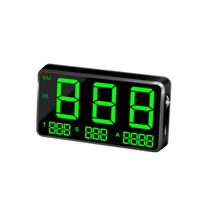 Motorcycles Universal Digital Car HUD Head Up Display GPS Speedometer with Over Speed Alarm Mileage Record Instrument