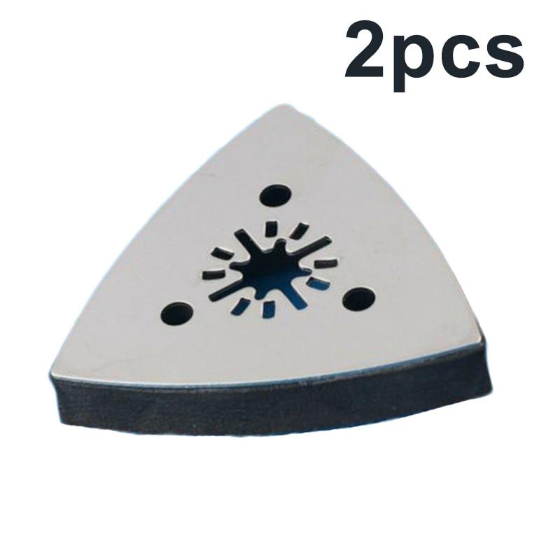 Fiberglass Sanding Discs Grinding Plate Pads Precise Polishing Corner 2pcs Set Triangle Part Tool Kits