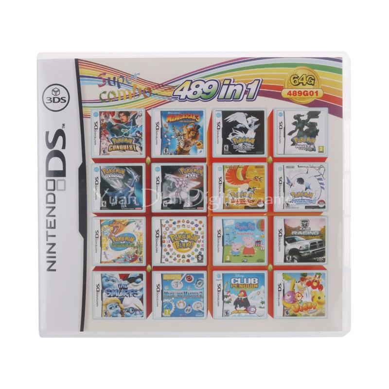 489 en 1 Compilation jeu vidéo cartouche carte pour Nintendo DS 3DS 2DS Super Combo Multi panier