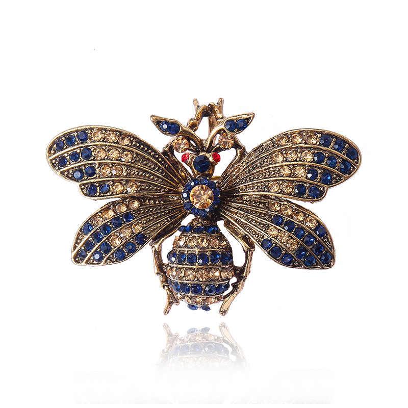 KingDeng Insetto Spille Moda Bee Retro Accessori per le Coppie Smalto Spilli Laple Spille Personalizzato Delle Donne di Origine Animale Classico