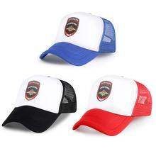 Russian Print Baseball Caps Black Blue Red Police Logo Mesh Snapbacks Bone Soft Cotton Polyester Men Women Hats Birthday Present