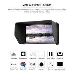 Feelworld F570 4K 5.7 Inch Ultra-Thin Portable On-Camera Field Monitor IPS Full HD 1920 x 1080 / Multi-Function Monitor / HD Inp