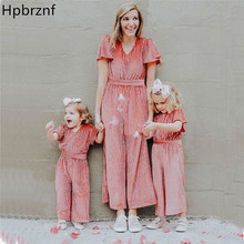 Family Matching Clothes Autumn Mother and Daughter clothing Mommy me Romper Women baby Girl Casual Jumpsuit Outfits E0323