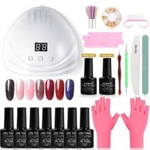 XZMUV 801 Nail Gel Kit uv led Lamp Polish Set All for Manicure Nails Art Nail Gel For Extension Tool Kit Professional Set