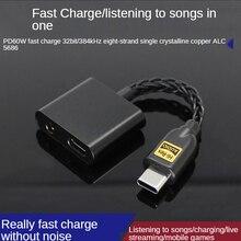 Usb DAC Typ C Zu 3,5 Jack Rollenmaschinenlinie Typc Audio Splitter Kopfhörer Kabel Kopfhörer Aux Adapter Ladegerät Usb-C Für xiaomi Mi6 Mix2 Hua