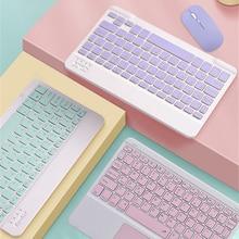 Cute Russian Arabic Hebrew Korean Spanish Keyboard Mouse For iPad 5th 6 6th 10.2 7 7th 8 8th Air 2 3 4 4th Pro 11 2018 2020 IOS