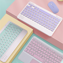 Lindo ruso árabe hebreo Coreano Español ratón de teclado para iPad 5th 6 6th 10,2 7 7th 8 8th aire 2 3 4 4th Pro 11 2018 2020 IOS