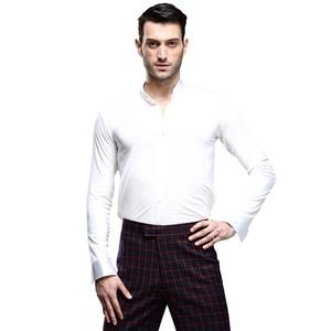 Image 2 - Nowe Fantasia Latin Dance topy mężczyźni joga sala balowa Salsa Tango Samba ubrania taneczne standardowe topy męska profesjonalna odzież do tańca