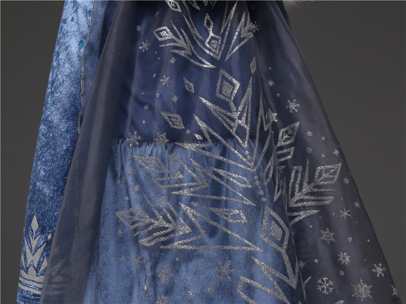 4-10 Years Fancy Cosplay Princess Costume Girls Elsa Dress For Christmas Halloween Gown Christmas Role-Play Kid Girl Clothes 5