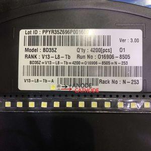 Image 5 - 2000pcs LED LED תאורה אחורית 2W 6V 3535 חלופי עבור LG מגניב לבן LCD תאורה אחורית עבור טלוויזיה טלוויזיה יישום 2 שבב באיכות גבוהה