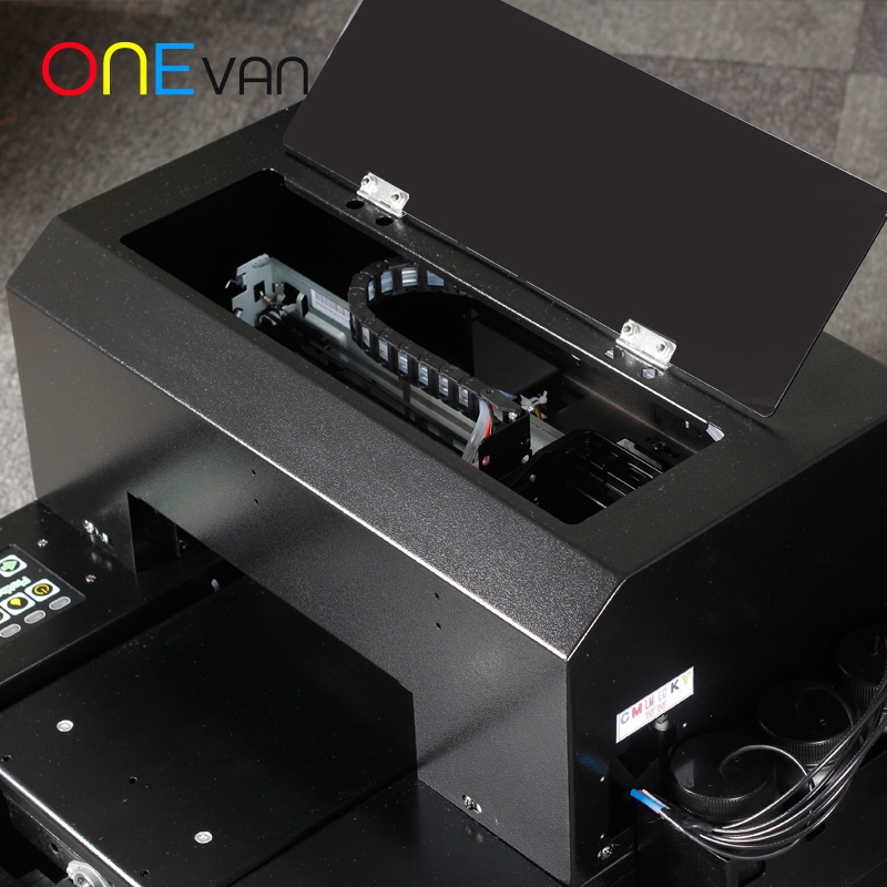 free shipping.A4 UV Printer UV Flatbed Printer for Phone Case, metal,pvc card,leather,phone case printer with UV ink - 4