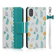 Magnetic Cute flower Case for apple Iphone 11 Pro Max  Wallet PU Leather Flip Stand Case for iPhone X XS XR Max 6 6S 7 8 Plus цена в Москве и Питере