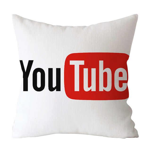 新アプリブランド Facebook Youtube クッションカバー家の装飾スロー枕結婚式クリスマス装飾枕ソファ車のため