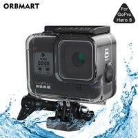 Водонепроницаемый чехол ORBMART 60 м для GoPro Hero 8, черный защитный чехол для подводного погружения, аксессуары для Go Pro 8