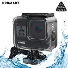 ORBMART 60Mกันน้ำสำหรับGoPro Hero 8 สีดำดำน้ำใต้น้ำสำหรับGo Pro 8 อุปกรณ์เสริม