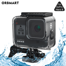 цена на ORBMART 60M Waterproof Housing Case for GoPro Hero 8 Black Diving Protective Underwater Dive Cover for Go Pro 8 Accessories