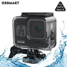 ORBMART 60M wodoodporna obudowa Case dla GoPro Hero 8 czarna nurkowanie ochronna podwodna osłona nurkowa dla Go Pro 8 akcesoria