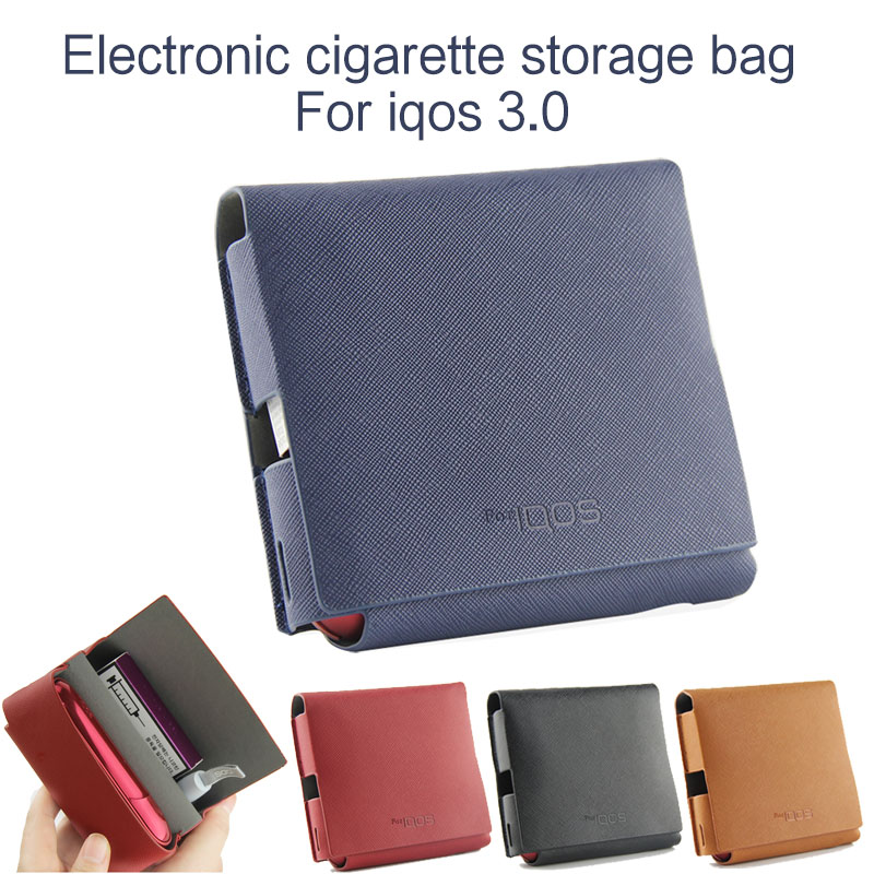 Electronic Cigarette 3.0 Protective Case Black Leather Storage Bag Outing Carrying Bag For Iqos 3.0 Decorative Accessories