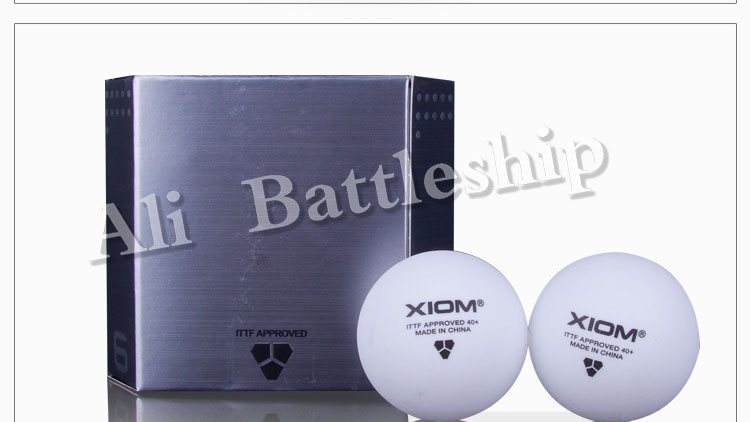 ORIGINAL High Quality XIOM 3 Star 40+ POLY Seamless Ball Table Tennis Ball / Ping Pong Ball 6pcs/pack