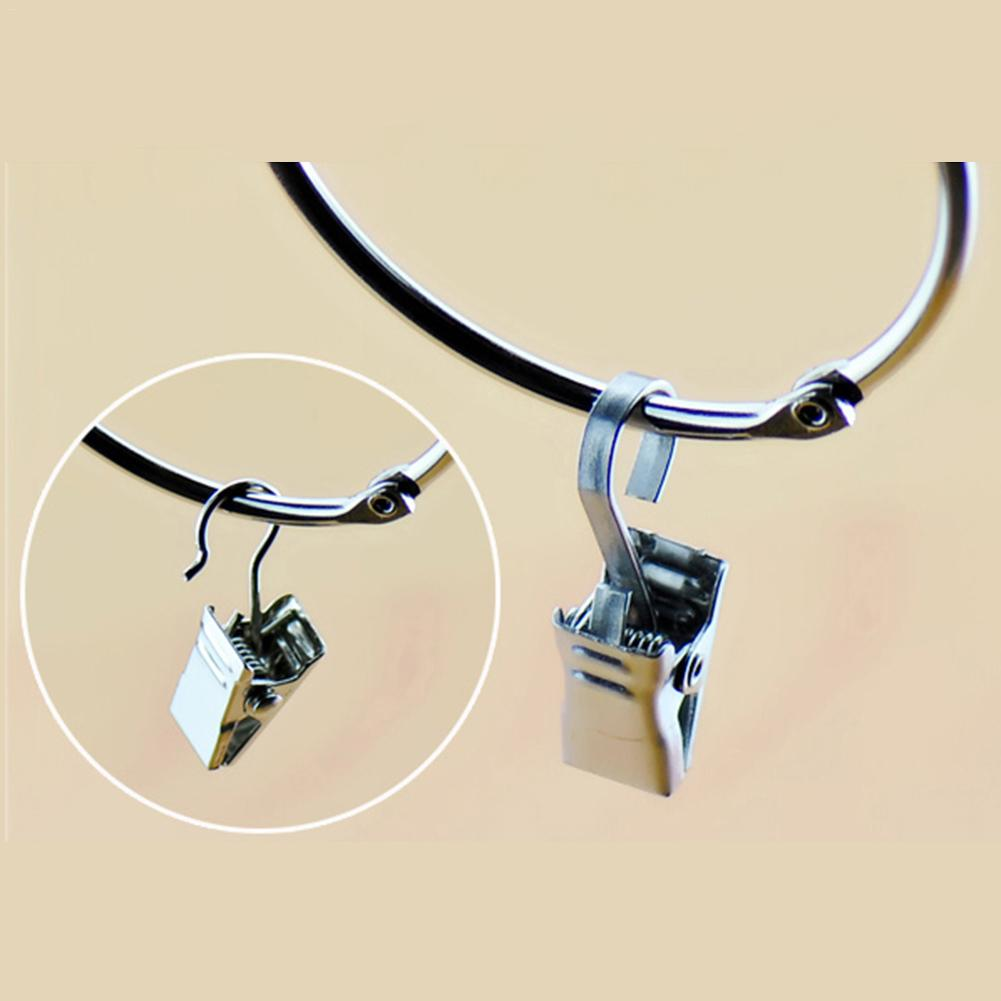 10PCS Clips Superhard Thickened Strong Stainless Steel Curtain Clips Hooks Open Curtain Clips Metal Sawtooth Clips #SO
